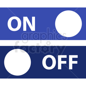 on off buttons vector icon