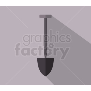 gray shovel vector on gray background clipart. Commercial use image # 410928