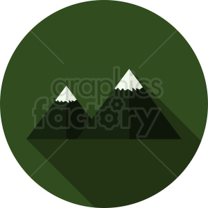 green mountain vector on circle background clipart. Commercial use image # 410941