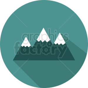 snow top mountain vector icon on circle aqua background clipart. Royalty-free image # 410973