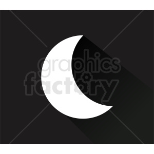 white moon on black background clipart. Royalty-free image # 410978