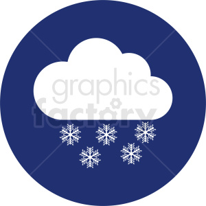 snow cloud vector clipart on circle background clipart. Commercial use image # 410983
