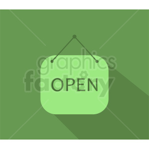 green open sign design clipart. Commercial use image # 411030