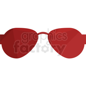 red sunglasses vector clipart clipart. Royalty-free image # 411062