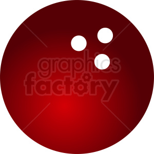 red bowling ball clipart clipart. Commercial use image # 411090