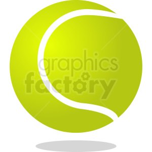 tennis ball vector design clipart. Royalty-free image # 411091