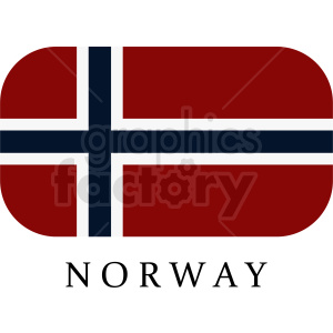 flag of Norway vector clipart clipart. Royalty-free image # 411124