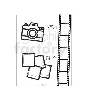 vacation doodle note printable template clipart. Royalty-free image # 411184