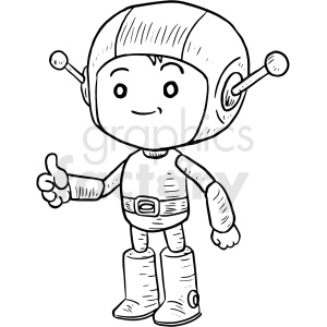 space boy vector clipart clipart. Commercial use image # 411228