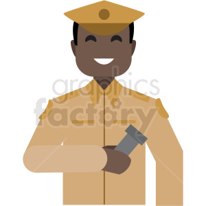 black soldier flat icon vector icon clipart. Royalty-free image # 411299