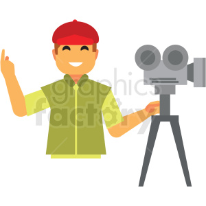 movie producer flat icon vector icon clipart. Commercial use image # 411325