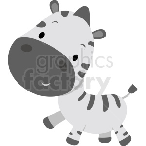 baby cartoon zebra vector clipart clipart. Royalty-free image # 411393