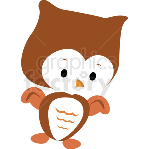 baby cartoon owl vector clipart clipart. Royalty-free image # 411399