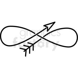 infinity arrow vector clipart clipart. Royalty-free image # 411451
