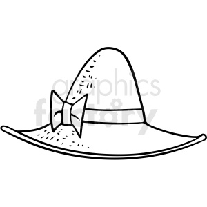 cartoon sun hat black white vector clipart clipart. Royalty-free image # 411491