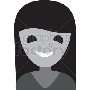 ghosted female avatar icon vector clipart clipart. Commercial use image # 411515