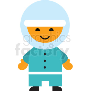 male Eskimo character icon vector clipart clipart. Royalty-free image # 411578