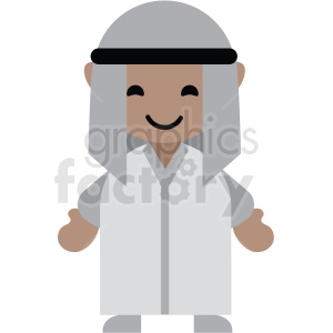 Arabic male character icon vector clipart clipart. Commercial use image # 411610