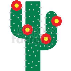 cactus with flowers vector clipart clipart. Commercial use image # 411620