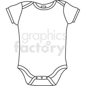 black white onesie icon vector clipart clipart. Royalty-free image # 411691