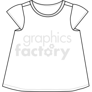 black white kids tshirt icon vector clipart clipart. Royalty-free image # 411697