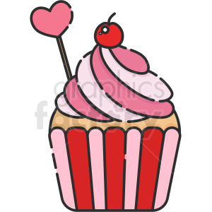 cupcake vector icon clipart. Commercial use image # 411790