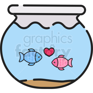 fish bowl vector icon clipart. Commercial use image # 411792