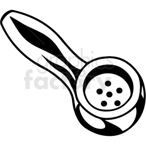 black and white cartoon marijuana smoking pipe vector clipart clipart. Royalty-free image # 411819