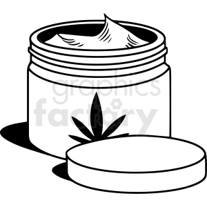 black and white cartoon hemp oil lotion vector clipart clipart. Commercial use image # 411820