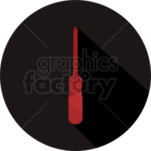 red screwdriver vector circle icon clipart. Commercial use image # 411831