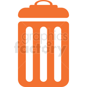 orange trash can icon clipart. Royalty-free image # 411947