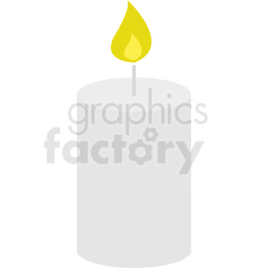large white candle vector icon clipart. Commercial use image # 411979