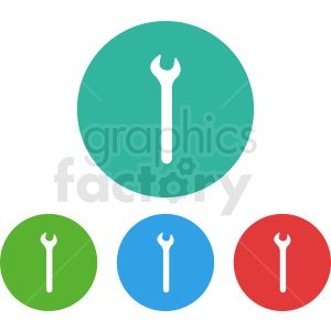wrench circle icon set clipart. Royalty-free image # 412008