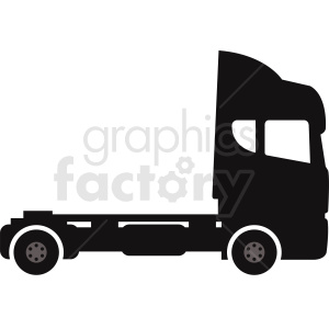semi truck vector clipart clipart. Royalty-free image # 412049