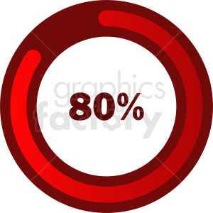 80 percent loading bar vector clipart. Royalty-free image # 412077