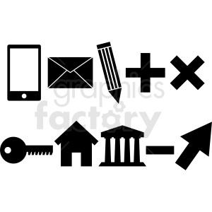 business icons vector clipart. Royalty-free image # 412115