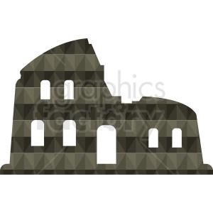 Italian Colosseum building