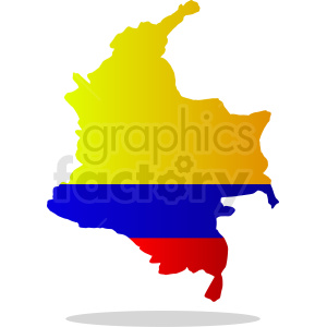 Columbia flag with drop shadow vector design clipart. Commercial use image # 412215