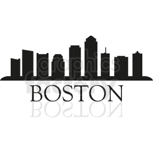 Boston city with title clipart. Commercial use image # 412217
