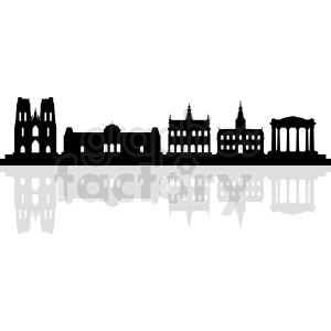 Brussels vector silhouette clipart. Commercial use image # 412222