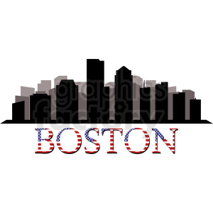 Boston city vector clipart clipart. Commercial use image # 412227