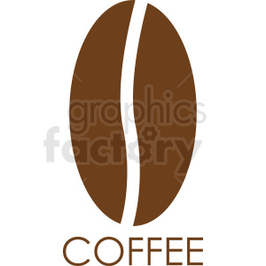 coffee bean logo design clipart. Commercial use image # 412253