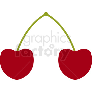 cherries vector clipart clipart. Royalty-free image # 412264