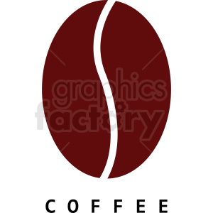 coffee bean logo sample clipart. Commercial use image # 412288
