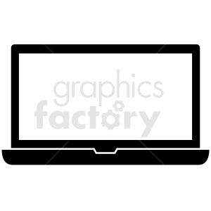laptop vector clipart icon clipart. Royalty-free image # 412305