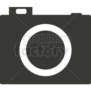 camera vector icon clipart. Royalty-free image # 412312