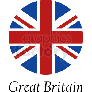 Great Britain circle icon clipart. Commercial use image # 412317