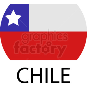 Chile flag icon clipart. Royalty-free image # 412325