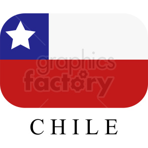 Chile flag vector icon clipart. Commercial use image # 412351