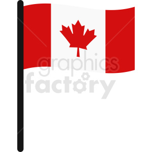 Canadian flag vector art clipart. Royalty-free image # 412358
